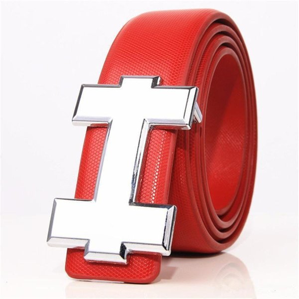 18 Colors Newest Fashion Brand Unisex Belts Luxury H Design Gentlemen Ladies Genuine Leather Straps Smooth Buckle Belt