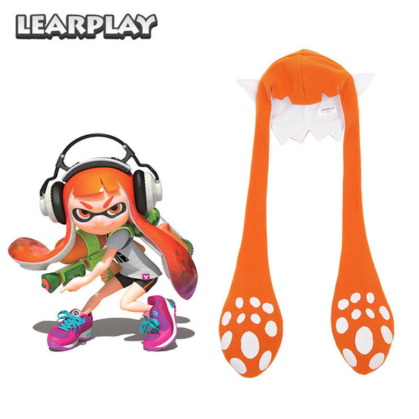 Splatoon 2 Splatfest Inkling Squid Cosplay Şapka Maske Parti Balaclava Komik Carniva Kostümleri Hediye Yetişkin Çocuklar için 7425080007