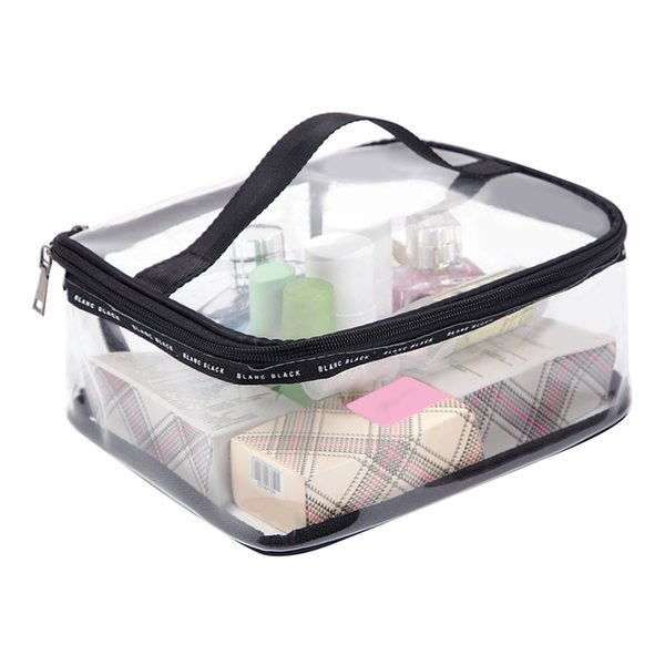 """""""PVC Transparent Cosmetic Bags Women's travel Waterproof Clear Wash Organizer Pouch Beauty Makeup Case Accessories Supplies """""""