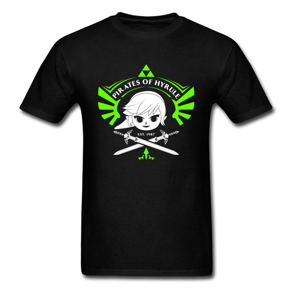 Funny Cartoon Print Men T Shirt Pirates Of Hyrule Game Tshirt 2018 Summer Brand New T-shirts 90's 100 Combed Cotton T Shirts