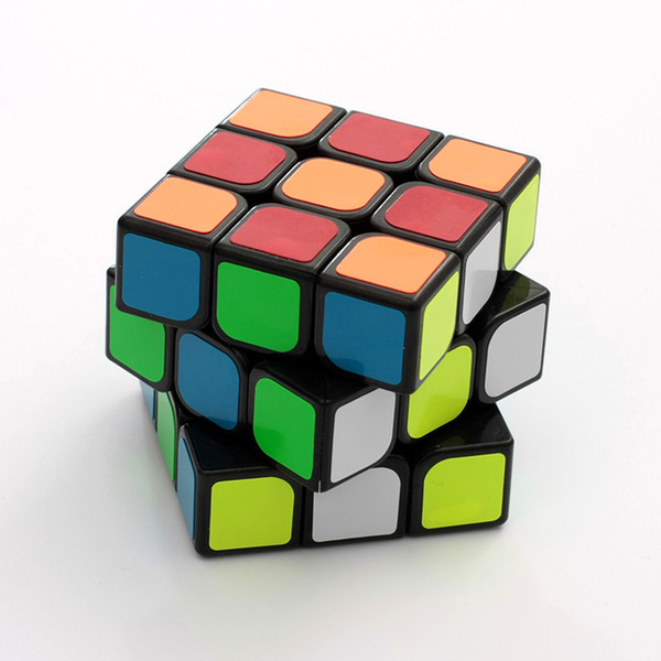 Speed Cube 3x3x3 Sticker Cube Puzzle Easy Turning Smooth Twist Magic Smart Cube Toys