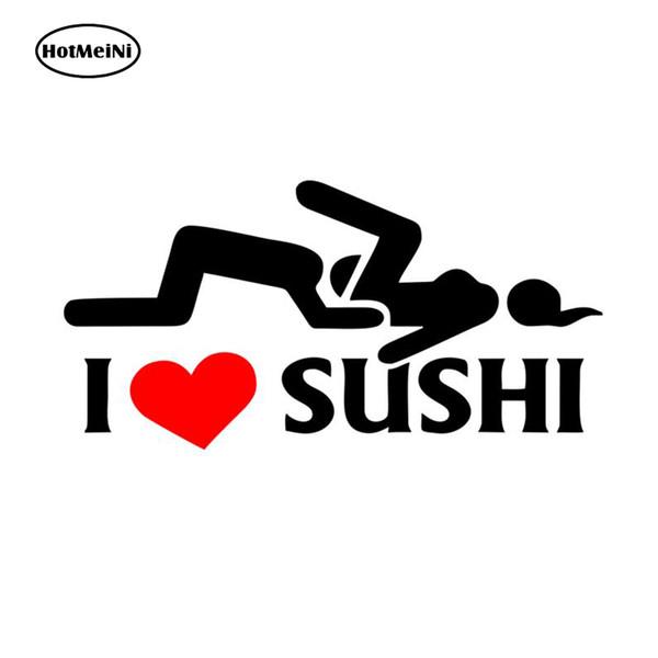 HotMeiNi 12 * 6 cm Auto-styling Ich Liebe Sushi Auto Aufkleber Fenster Motorrad Vinyl Aufkleber Auto Körper Lustige Aufkleber Schwarz / Splitter