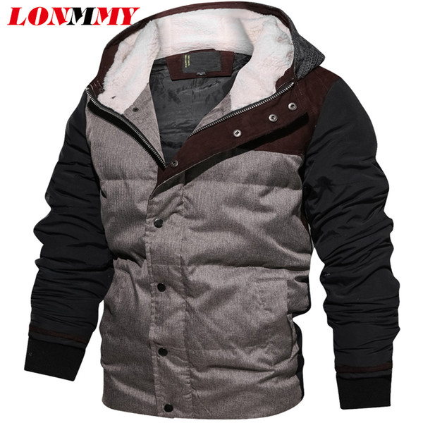wholesale Winter jacket men clothes Cashmere liner Hooded coat men Outerwear jaqueta masculina streetwear windbreaker New arrival
