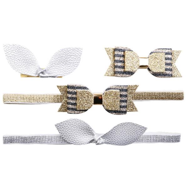 New Gold black stripes headband hair band girls print hair clip boutique hairpins barrettes Spring summer kids accessories