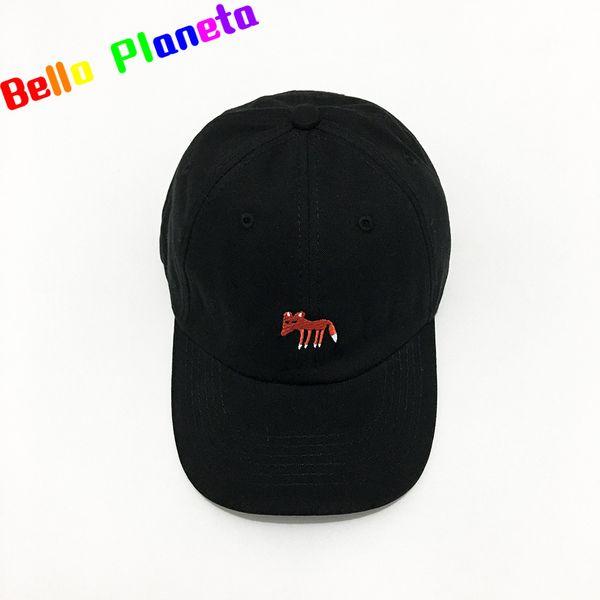 Hat Female Summer Cute Fox Embroidered Cap Casual Wild Hip Hop Elbow Baseball  Cap Male And Female Couple Hat Bone Casquette Caps ab366cd0ab9a