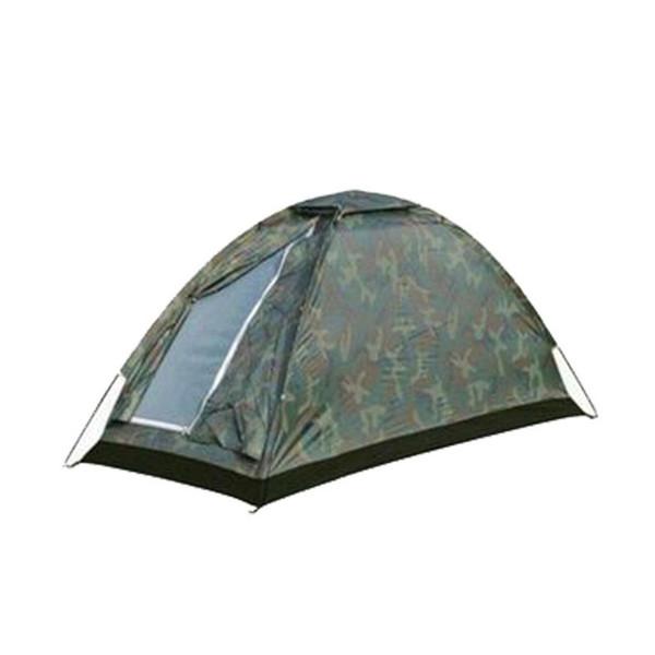 Singolo strato 3 stagioni tenda da campeggio all'aperto viaggio impermeabile camuffamento tenda portatile tenda da campeggio zanzariere per un popolo