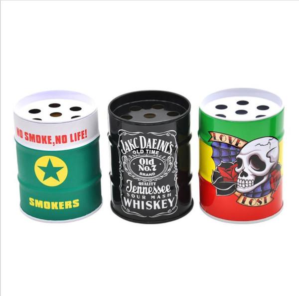 Trendy fashion oil bucket ashtray, mini car ashtray, stainless steel gasoline, cigarette barrel, personality pen holder.