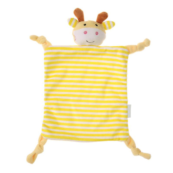 Baby Toys Soft Cartoon Animal Handkerchief Infant Comfort Appease Towel Newborn Calm Doll Teether Soft Plush Toys