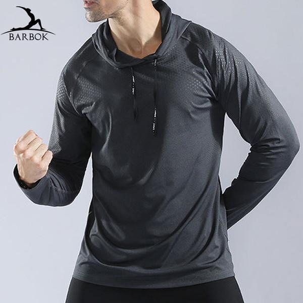 BARBOK Long-Sleeve Lauf T-Shirts Road Runner Sport Jersey Strumpfhosen Sportswear Gym Working Jogging Kleidung Fitness Yoga Shirts