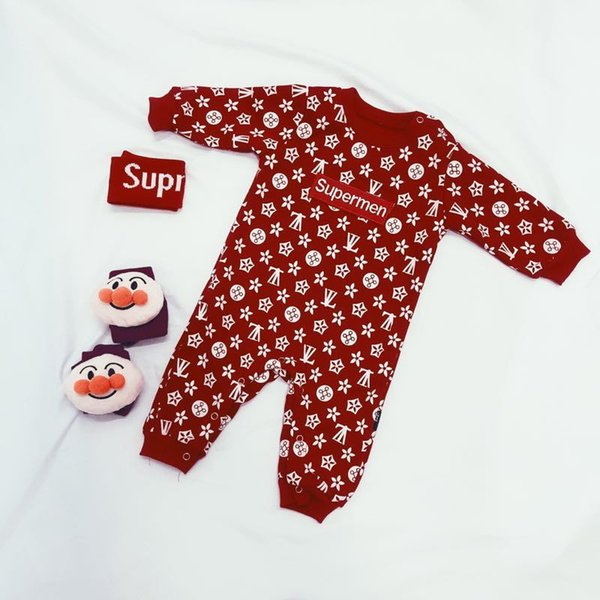zuonianzg6 / Ins Newborn Autumn And Winter Gules Pure Cotton Long Sleeves Outgoing Clothes