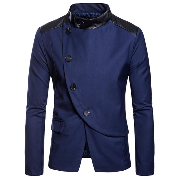 2018 Men Brand Suit Of Men Of The Chinese Style Mandarin Collar Jacket New Tunic Suit Jackets Mens Jacket Fu Black