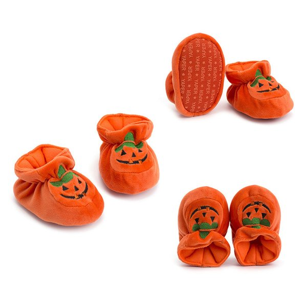 Halloween Baby Shoes Pumpkin Non Slip Learning Walking Shoes Soft Bottom Baby First Walkers Halloween Decor Costume