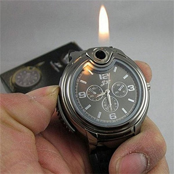 Hot Sale Luxury Military Lighter Watch Novelty For Man Women Quartz Sports Refillable Butane Gas Cigarette Cigar Watches with Diamond