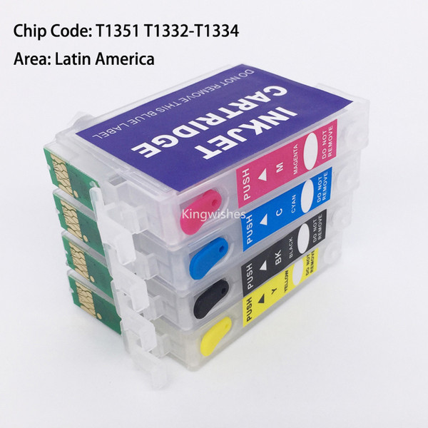 T1351 T1332-T1334 Refillable Cartridge With Permanent Chip For Epson Stylus T25 TX125 TX133 TX135 Without Ink