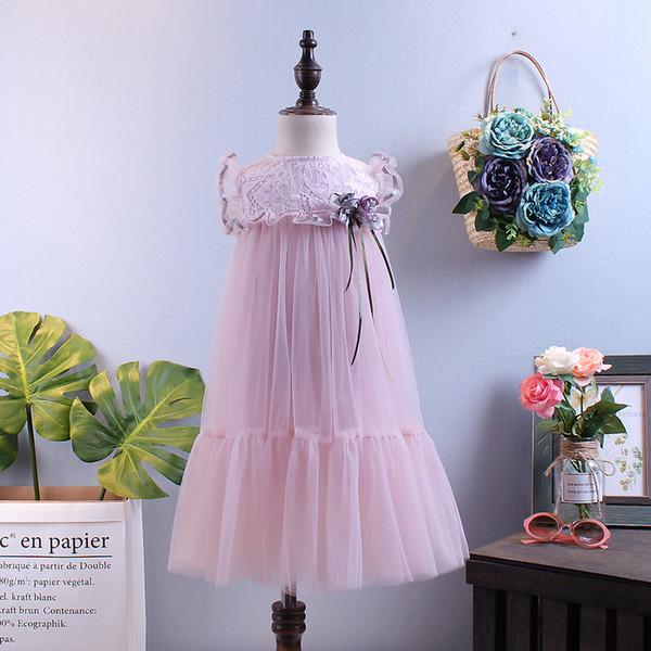 Girl Dress Summer Wear 18 New Pattern Korean Summer Girl Skirt Fashion Western Style Princess Skirt