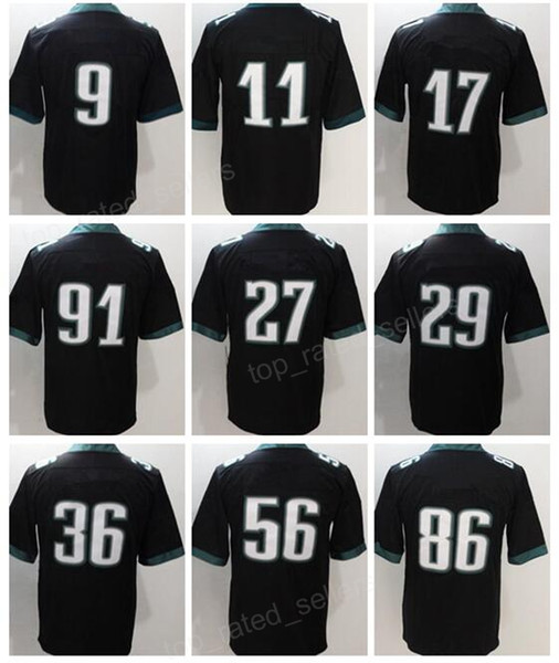 buy popular 95e19 8005f 2017 2018 Super Bowl 9 Nick Foles Jersey 11 Carson Wentz 17 Alshon Jeffery  Zach Ertz Fletcher Cox Malcolm Jenkins Superbowl Men Women Kids Man From ...