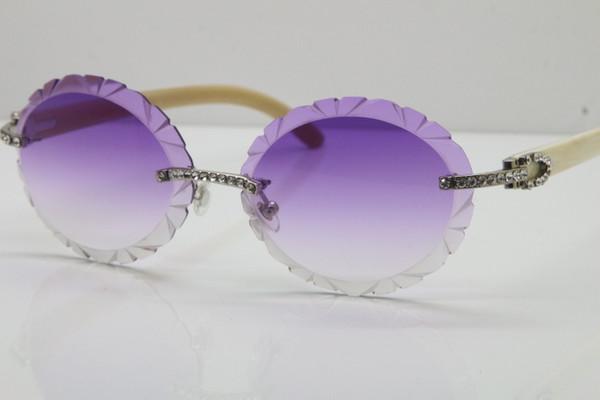 Lentille argentée violette