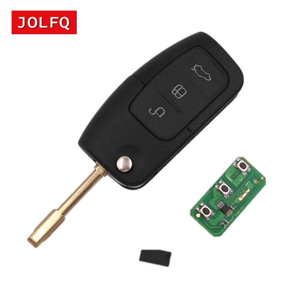 para FORD C Max S Enfoque máximo Mondeo Fiesta KUGA Galaxy 3 botones 433MHz con chip 4D60 / 4D63 Entrada sin llave Fob Alarma para coche Llave a distancia