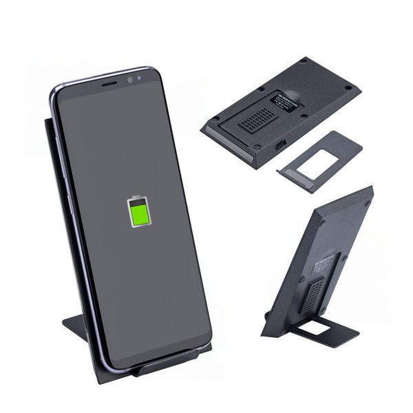 Quick Wireless Charger QI Aluminum Alloy fast High Power charging Base Folding deformation holder For Samsung S8 Plus S9 plus Iphone 8 X