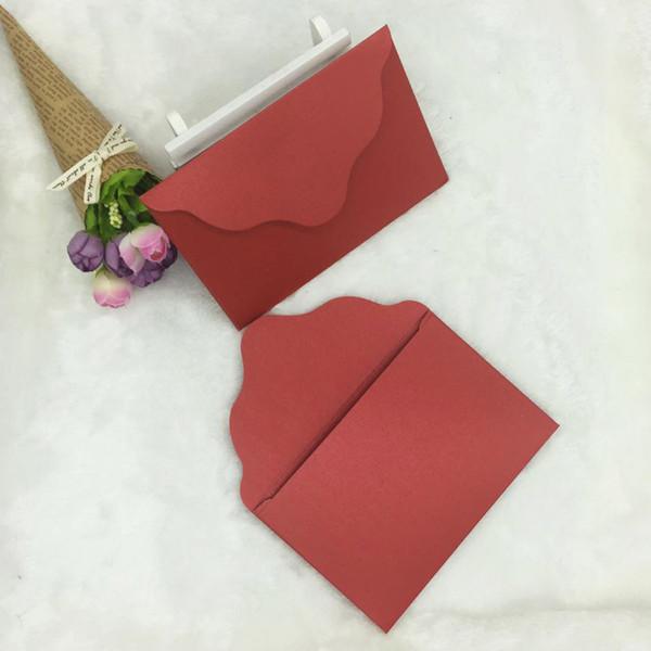 50pcs/lot Handmade Mini Envelopes Vintage Colored Pearl Blank Paper Envelope Wedding Invitation Envelope Christmas Gift