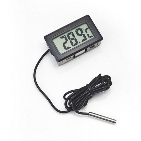best selling Professinal Mini Digital LCD Probe Aquarium Fridge Freezer Thermometer Thermograph Temperature for Refrigerator -50~ 110 Degree