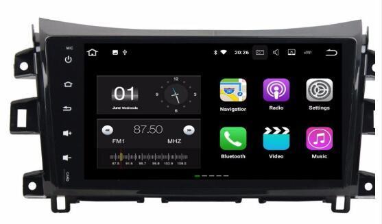 Android 8.01 Car Dvd Gps Navi Audio for Nissan Navara 2016 HD1024*600 4GB Ram 32Gb Rom 8-core Steering wheel control WIFI