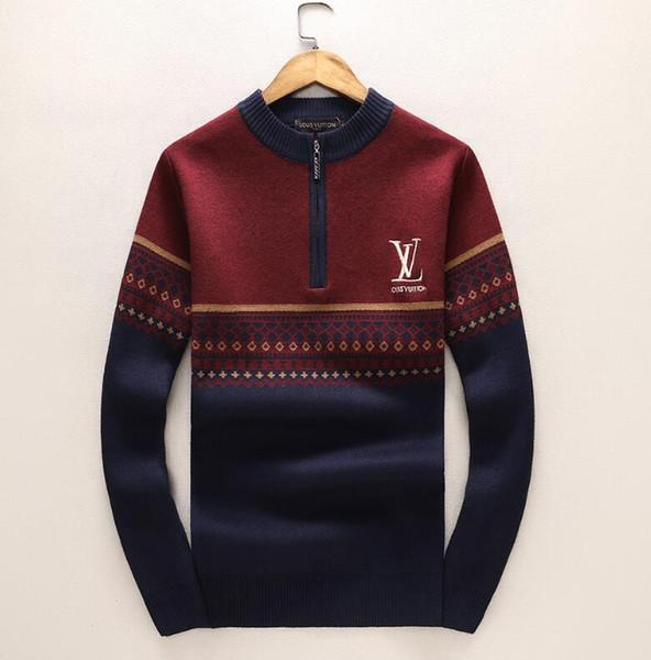 Marque de luxe hiver pull en cachemire vêtements de mode pour hommes vêtements de designer lettre imprimée chandail chemise décontractée laine pullover fashionable