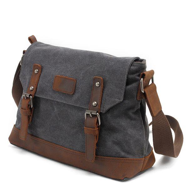 AUGUR New Shoulder Crossbody Bags For Men'S Canvas Soft Messenger Bags Man Fashion Large Capacity Travel Sac Homme