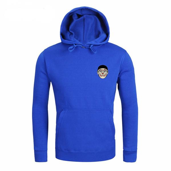 Ücretsiz kargo Sıcak satış kış Yeni Erkekler hoodies uzun Kollu Baskı Cao Cao'nun Facfeather Moda Marka Pamuk hoodies