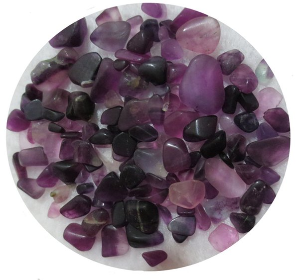 C09 7 ~ 9mm Natural Brasil Fluorita Amatista Piedra Púrpura Chips Cuarzo Acuario