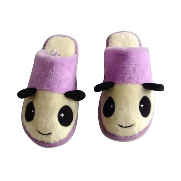 Senza Fretta Winter Soft Women Slippers Cute Cartoon Panda Couple Women Slippers Indoor Warm Cotton Slipper Shoes Big Size