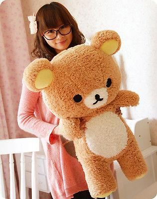 2016 farcito regalo kawaii San-x Rilakkuma Relax Bear 55 cm morbido cuscino peluche bambola giocattolo Kawaii bambini farcito giocattoli per bambini bambole