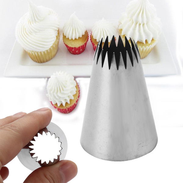 1PC Hot Practical #9FT Large Flower Icing Piping Nozzle Russian Stainless Steel Pastry Tip Cake Cupcake Decorating Tool Bakeware