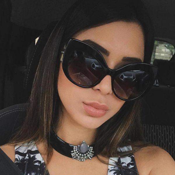 ALOZ MICC Vintage Cat Eye Sunglasses Women Fashion Brand Designer Big Frame Eyeglasses Women Shade Oculos UV400 A556