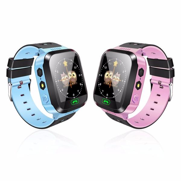 Smart Watch Orologio da polso per bambini Touch Screen Localizzatore GPRS Tracker Smartwatch anti-smarrimento Baby Watch con telecamere SIM a distanza
