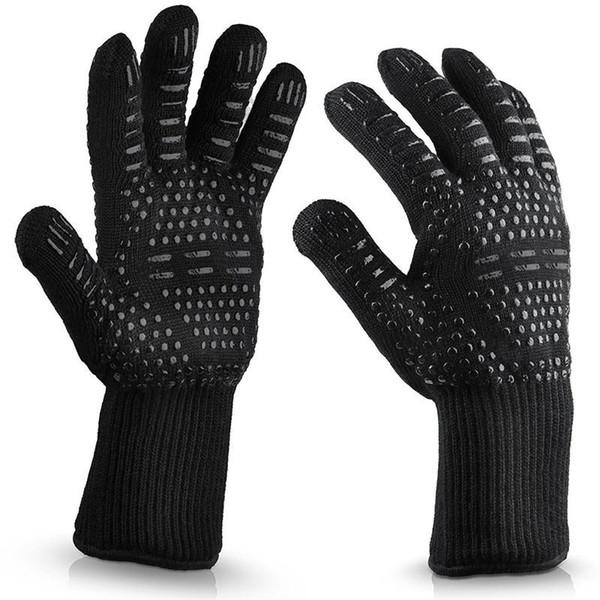 Термостойкие силиконовые духовки перчатки анти занос эластичность Барбекю гриль длинные пять пальцев перчатки Resuable противопожарные кухонные инструменты 14lc BB
