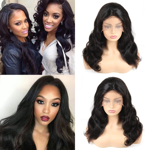 Brazilian Virgin Hair Body Wave Human Hair Lace Front Wigs Unprocessed Remy Human Hair Wigs For Black Woman Free Shipping long Size Vendors
