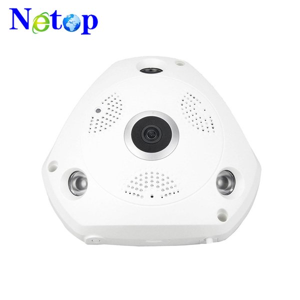 Netop Two Way Audio talk Motion Detection Alarm SD/TF Card Recording Home Security System 360° Fisheye Panoramic VR Wireless indoor Camera