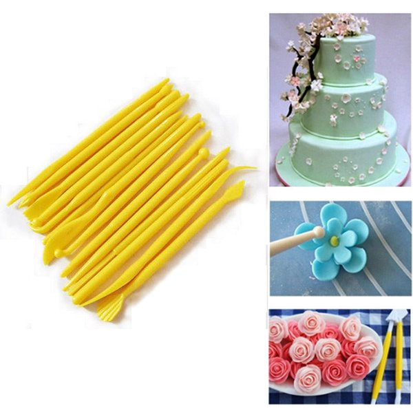 14Pcs/Set Pastry Craft Cutters Fondant Cake Decorating Carving Tools Flower Shaping Modelling Tools Sugarcraft VBN10 P12 0.5