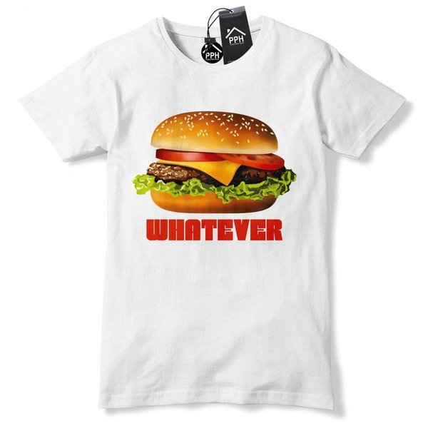 Burger Whatever Funny Tshirt Food Drink Gym Geek Hipster Fries Fast Tee Top 529