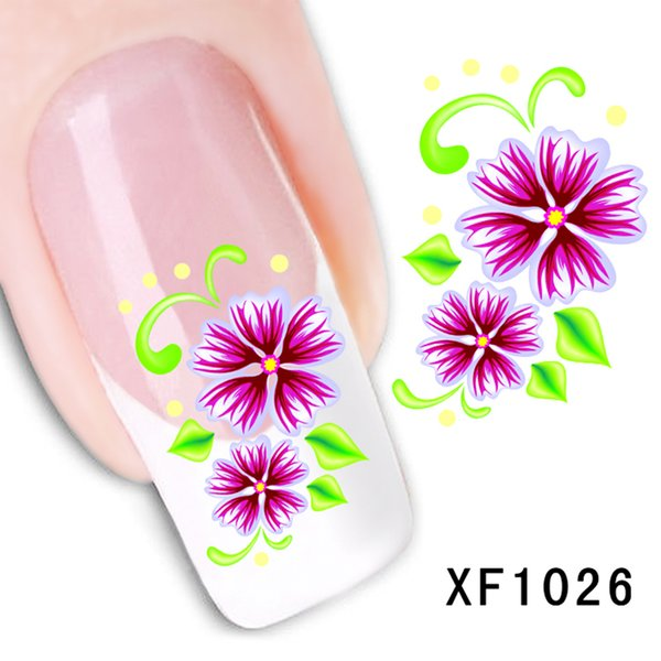 ELECOOL NEW 1Pc Water Transfer Flower Pattern Nail Stickers Decal for Women Girls DIY Home or Salon Manicure Nail Decals