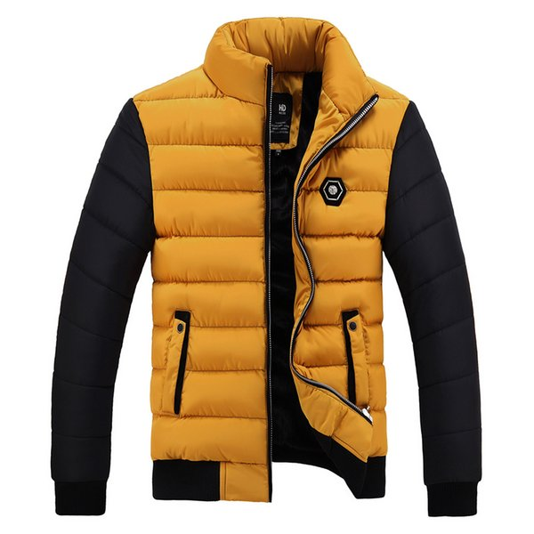 2018 New Snow Winter Coat Men Cotton Thickening Cold Stand Collar Fleece Warm Parkas Jacket Mens Casual Hot Overcoat Man WFY37 C18111201