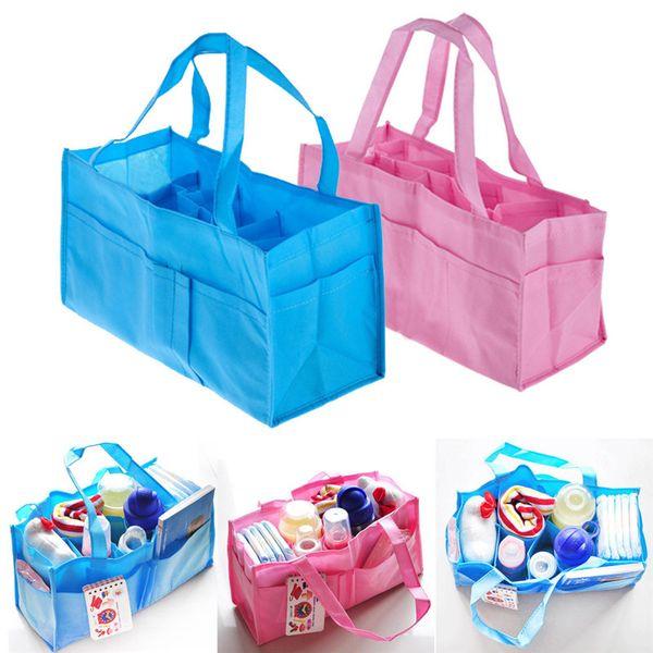 top popular Portable Mommy Bag Bottle Storage Multifunctional Separate Bag Nappy Maternity Handbag Baby Tote Diaper Organizer 2021