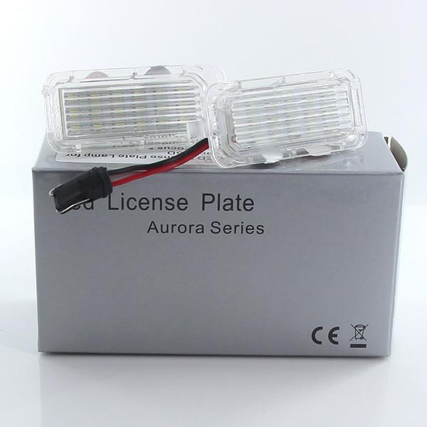 2pcs White LED License Number Plate Light Bulb Canbus For Ford Focus 5D 2009-2016 For Mondeo 2008-2016 For Fiseta 2009-201