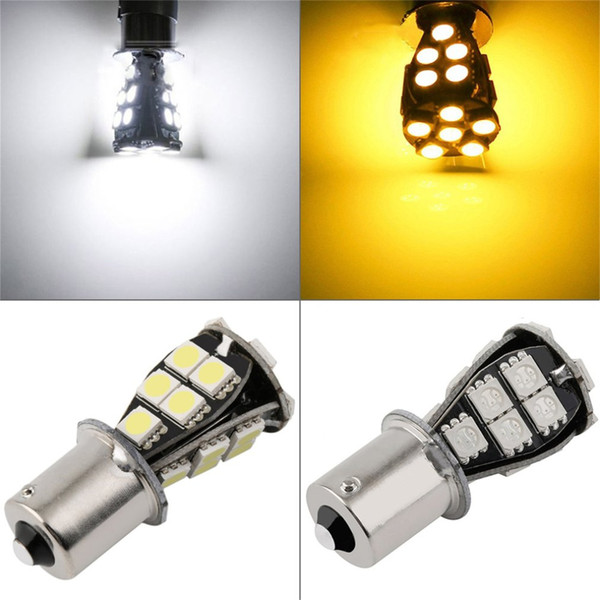 2pc Car Auto Lights Parking Bulb Lamp 1156 BA15S 21W SMD 5050 Amber /White CANBUS OBC No Error Car LED Light Bulb 12V