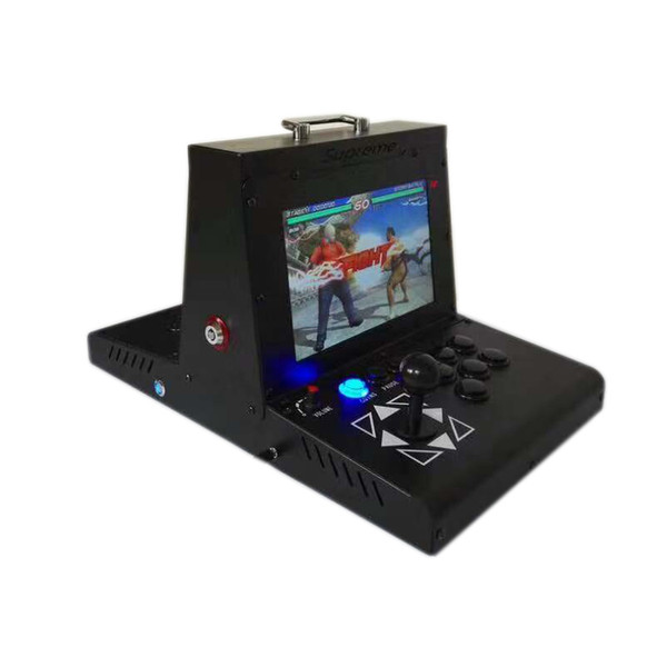 2 player metal case Arcade Game machine with 10 inch LCD 3D pandora treasure 2200 in 1 main board VGA HDMI output