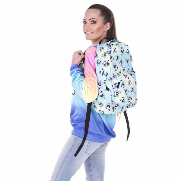 2018 Cartoon Animal Panda 3d print Backpack For Teenage Girls Children Panda School Bags Kids Bookbag Cute School Backpack