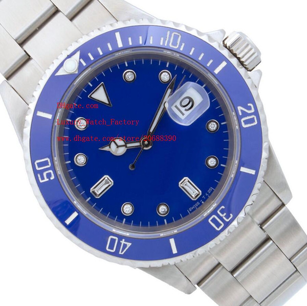 Luxury AAA Sapphire 40mm 116610 Stainless Steel Bracelet Automatic Mechanical Blue Ceramic Bezel Mens Men's Watch Watches Blue Dial