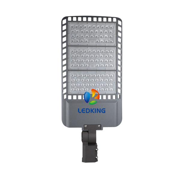 Luz de poste de la calle de 250W LED El estacionamiento ultravioleta brillante de 33000LM Shoebox enciende el conductor de Meanwell con el interruptor automático de la fotocélula al amanecer
