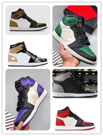 quite nice 617ba b39ab Großhandel Mit Schachtel 1 High Og COURT PURPLE 1s PINE GREEN Denken Sie 16 Basketball  Schuhe OG Pass The Torch Sports Trainers Chirurg Herren Schuhe Von ...